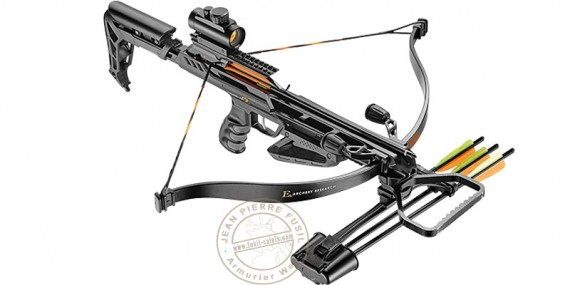 Jag II Pro Crossbow 175 Lbs Black, with quiver, bolts and red dot sight