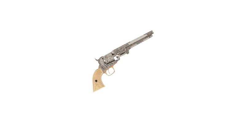 Inert replica of the Colt Navy 1851 revolver engraved