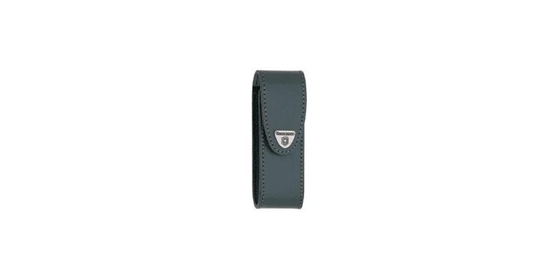 VICTORINOX leather sheath - Small size (111mm) - Black