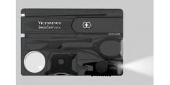 VICTORINOX knife - SwissCard Lite translucent black 8p