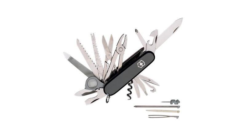 Couteau VICTORINOX - Swisschamp noir 21p