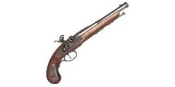 Réplique du pistolet pirate ''Jean Bart'' XVIIIe siècle