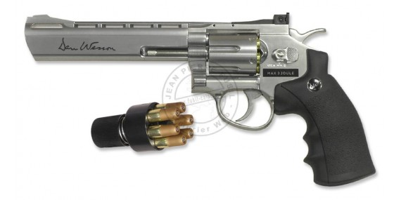 ASG Dan Wesson 6'' CO2 revolver - Nickel plated - .177 bore (3 joules)