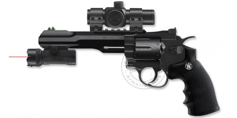 Kit Revolver 4,5mm CO2 UMAREX - Smith & Wesson TRR8 avec lampe-laser (2,75 joules)