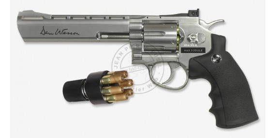 ASG Dan Wesson 6'' CO2 revolver - .177 bore - Nickel plated (3 joules) - Pellets