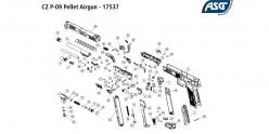 ASG CZ P-09 Duty - Blowback CO2 pistol - .177 bore (3.7 joules)