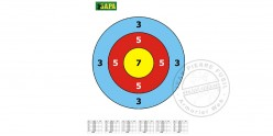 Paper targets for blowguns - x 12
