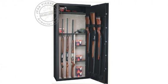 Armoire forte 14 armes longues à lunette + coffre + étagères amovibles- INFAC Sentinel