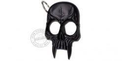 Skull key ring knuckle-duster - Black