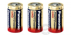 Lot de 2 piles lithium CR2 3V