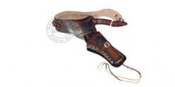 Printed leather buscadero - 1 revolver