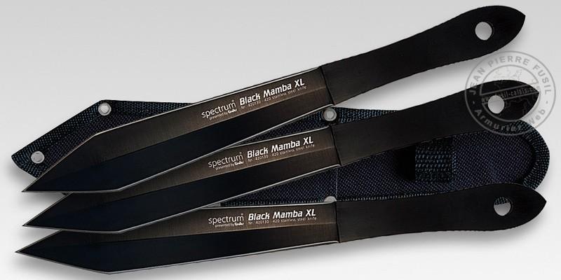 Lame de lancer LINDER - Spectrum Black Mamba XL Set - Lot de 3