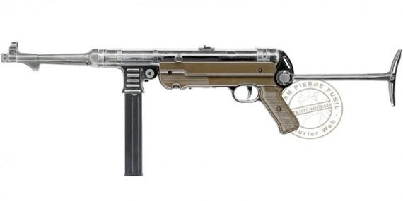 Pistolet mitrailleur à plomb CO2 4,5 mm UMAREX Legends MP German Legacy (inf. à 7,5 joules)