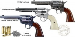 UMAREX Colt Single Action Army 45 CO2 revolver - .177 bore (3 joules) - Nickel plated finish