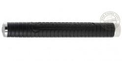 Matraque télescopique rigide noire - 20 pouces - Poignée caoutchouc