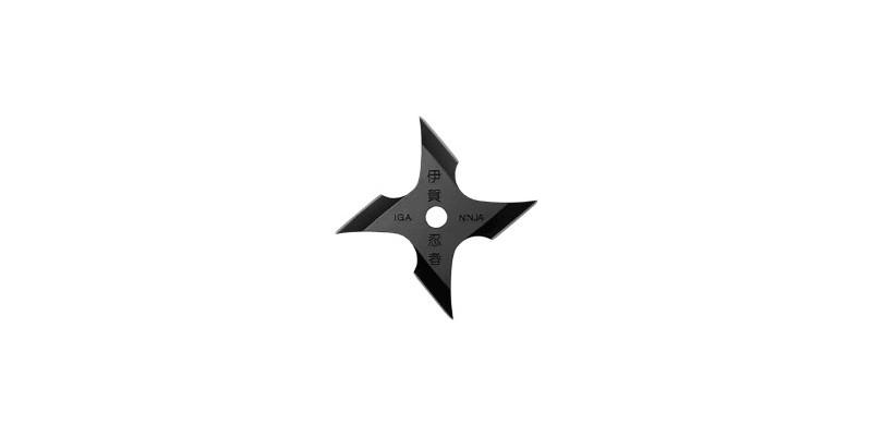 Iga Ninja Shuriken - 4 blades - Black