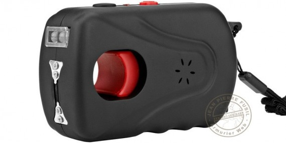 Rechargeable stun gun PIRANHA 3 000 000 V with led and alarm