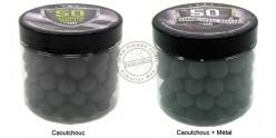 Box of 100 rubber balls caliber .50