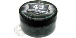 Box of 100 rubber balls caliber .43