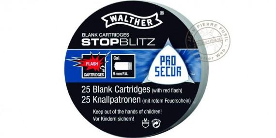 Cartouches 9mm Pistolet à blanc - Stop-Blitz / 25
