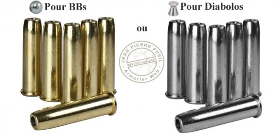 UMAREX - 6 cartridge pack for COLT Single Action Army 45 CO2 .177 revolver - BB or pellets