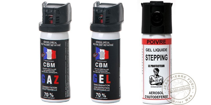 Set of 3 self-defence sprays 50ml CS gas + 50ml CS gel + 50ml Pepper Gel - PROMOTION
